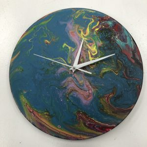 Lunch Hour Clock-Making Workshop (Acrylic Pour)