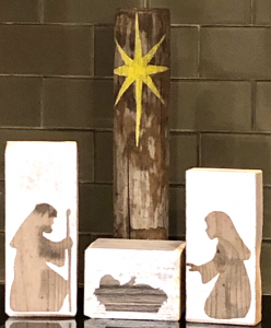 Nativity Made from Reclaimed Farm Wood Workshop