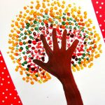 Fall Break Drop-In Activities: Fall Tree Finger Painting